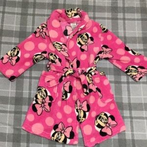 Like New Disney Minnie Mouse Robe, Girls 2T, Pink